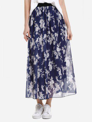 ZAN.STYLE Wide Waistband Maxi Skirt