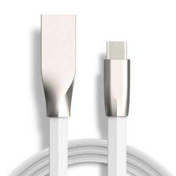 Diamond Shaped Zinc Alloy USB Type-C1M Data Cable -