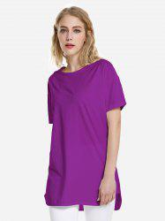 T-shirt ourlet dauphin - Violet XL