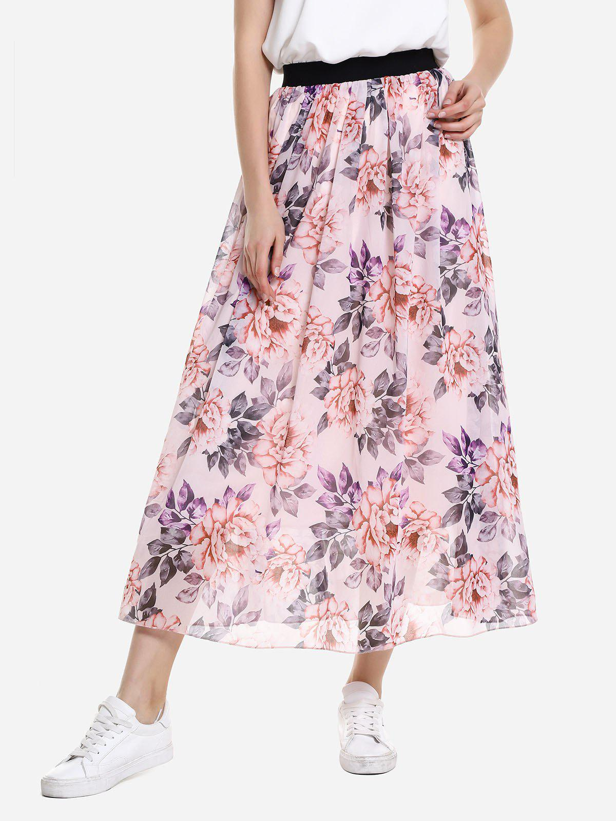 Hot Wide Waistband Maxi Skirt