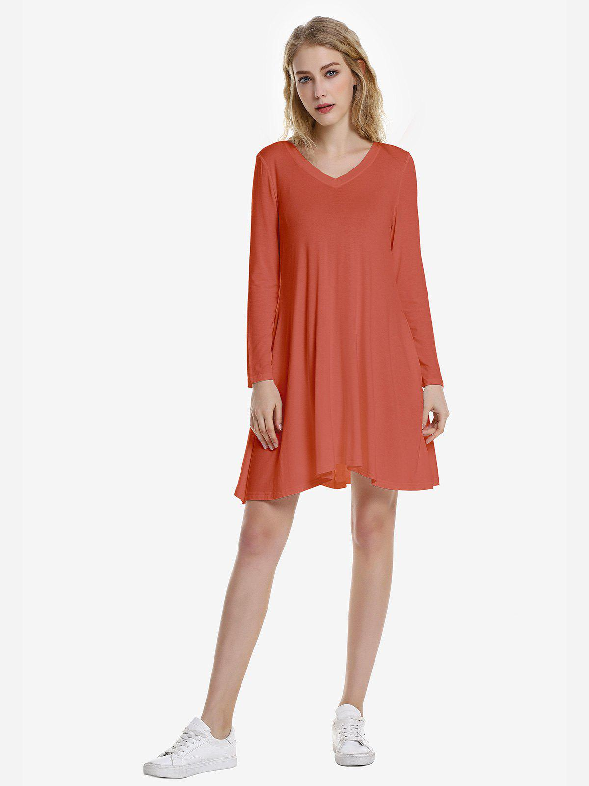 Fashion ZAN.STYLE V Neck Dress