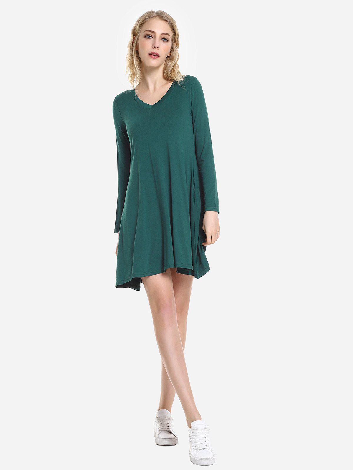 Unique ZAN.STYLE V Neck Dress