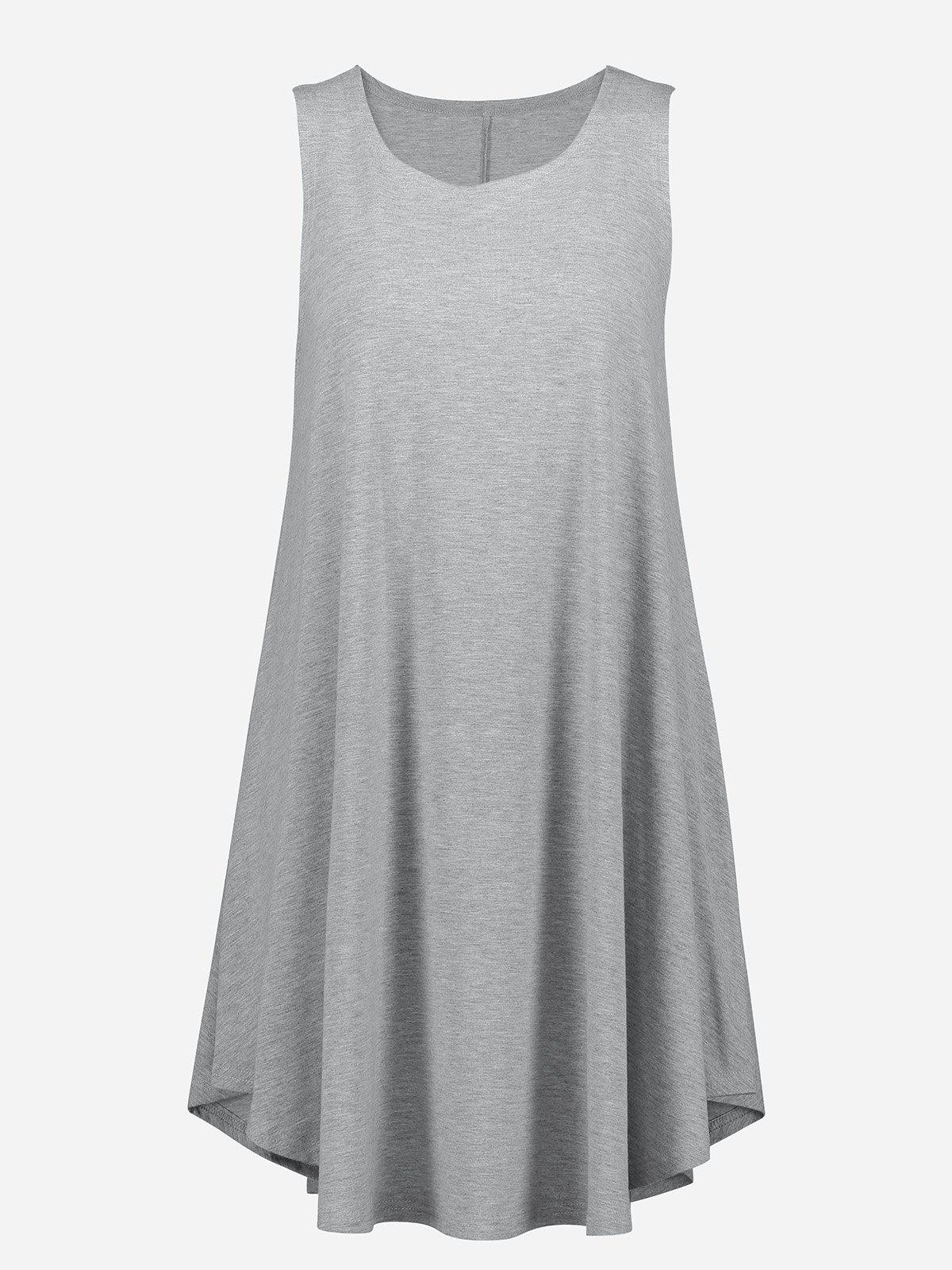 New Sleeveless Swing Tunic Dress Tank Top