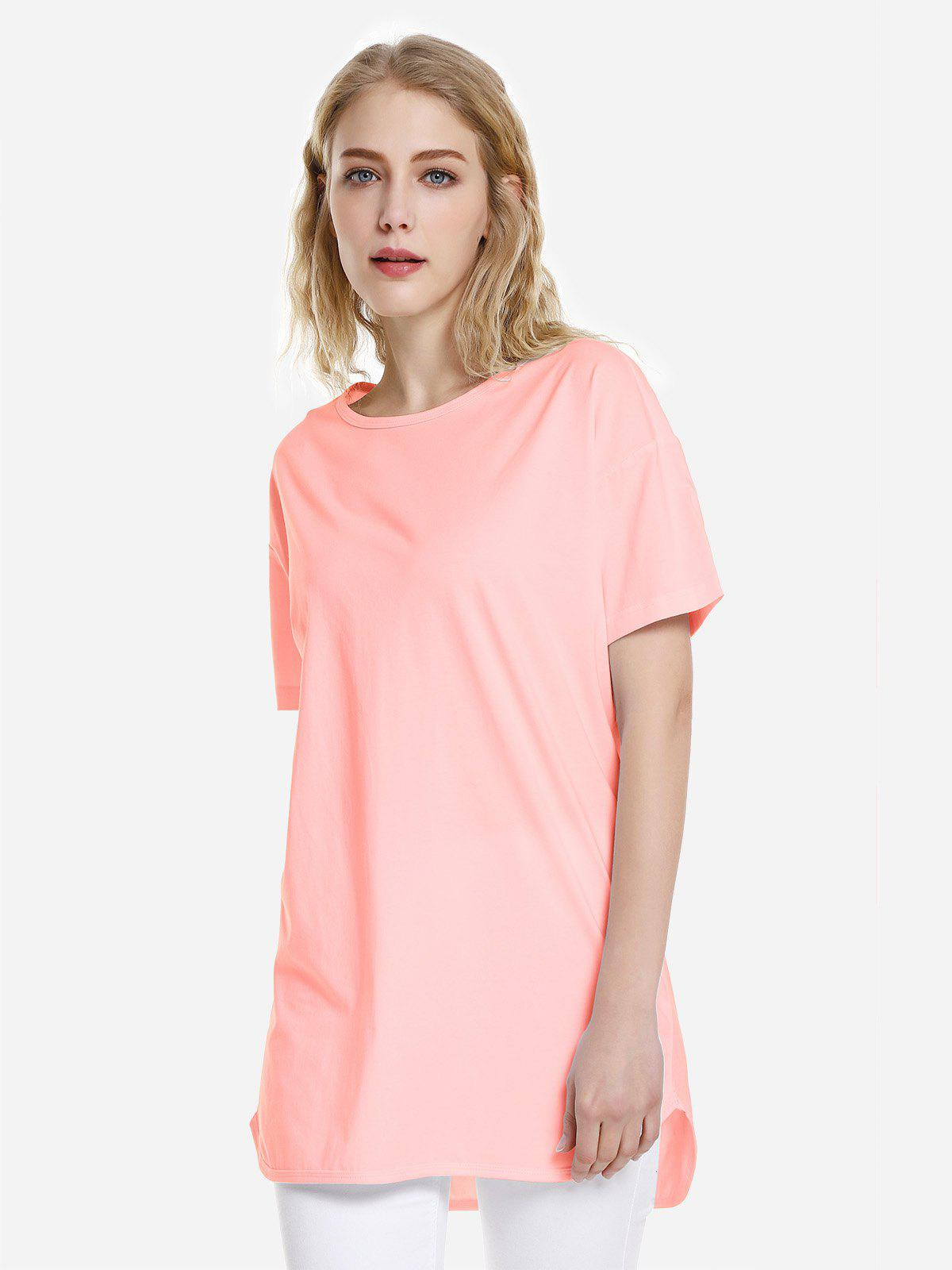 T-shirt ourlet dauphin Orange Rose XL