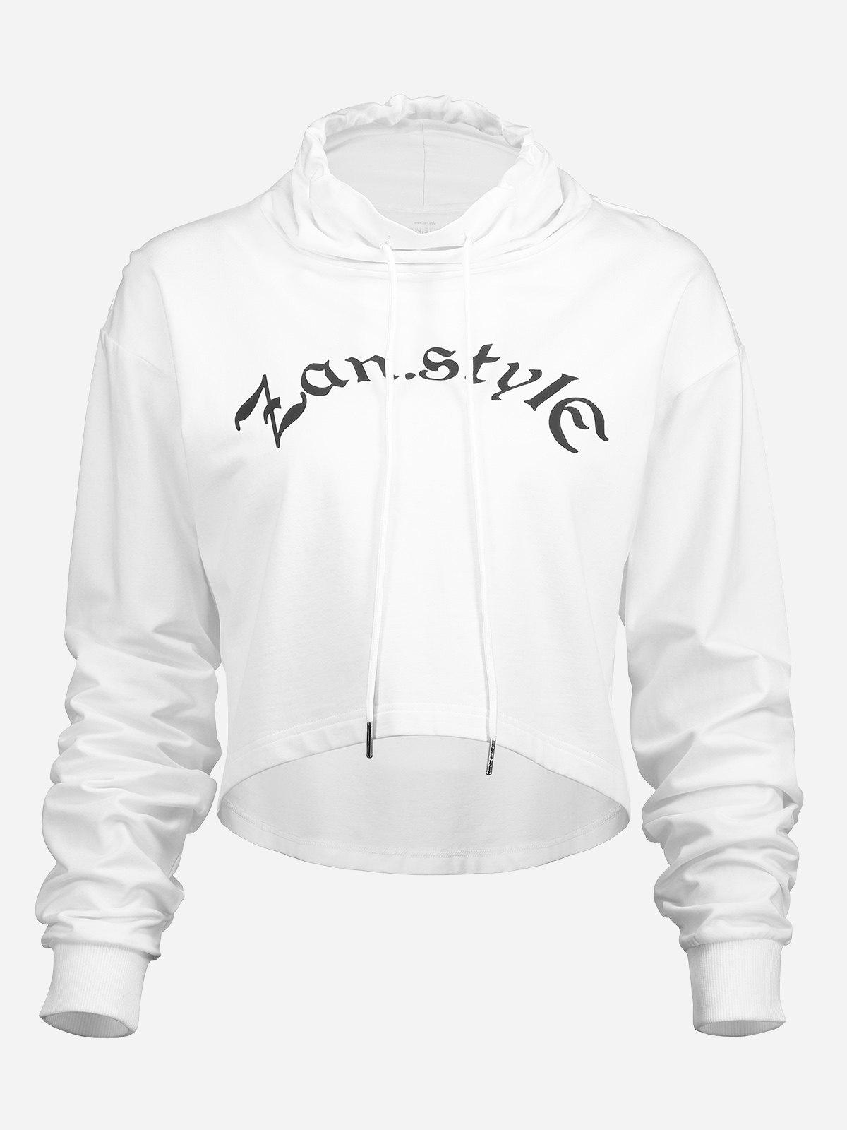 Outfits Drawstring Cropped Hoodies