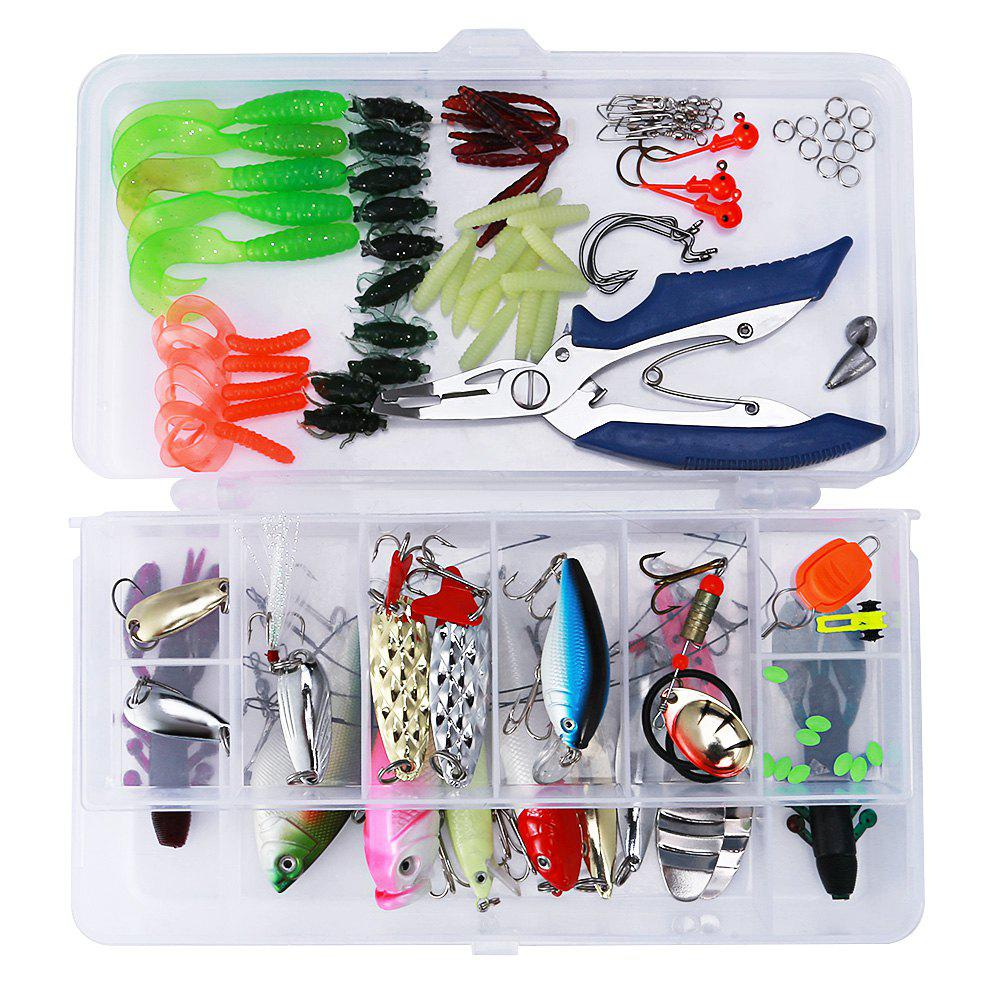 Outfits 101pcs Bionic Lure Fishing Minnow Crank Spoon Soft Hard Bait Spinner Hook Tackle