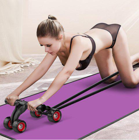 Shops 4-wheel Professional Exercise AB Roller Abdomen Round Fitness