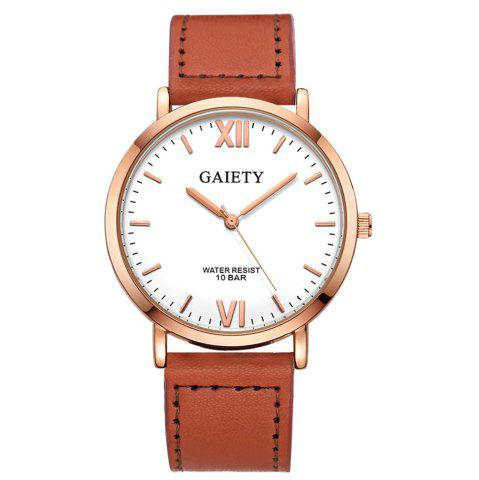 Store GAIETY  Men's Rose Gold Simple Leather Band Wrist Watch G032