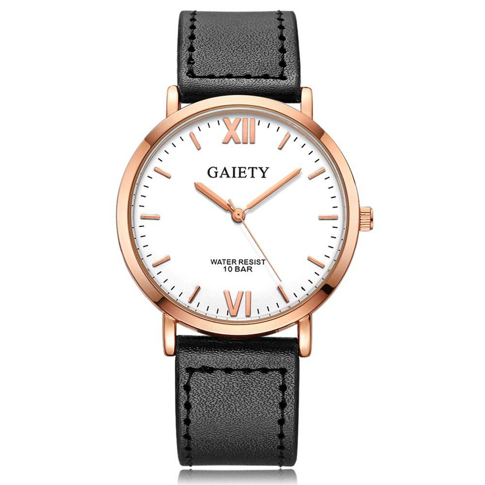 Cheap GAIETY  Men's Rose Gold Simple Leather Band Wrist Watch G032