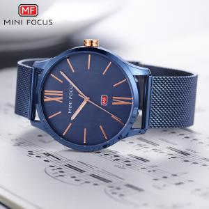 MINI FOCUS Mf0018G 4316 Fashion Steel Band Men Watch -