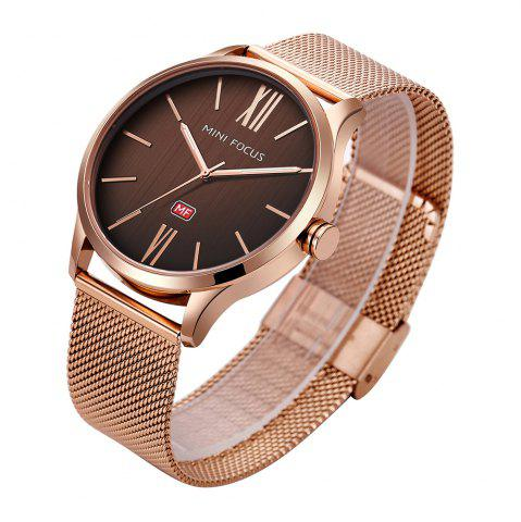 Shop MINI FOCUS Mf0018G 4316 Fashion Steel Band Men Watch