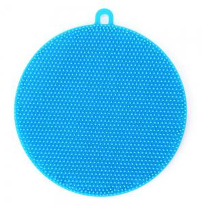 Multi-purpose Vegetables Fruits Dish Silicone Antibacterial Kitchen Cleaning Brush Pad -