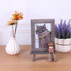 Creative Wooden 6 inch Cat Photo Frame -