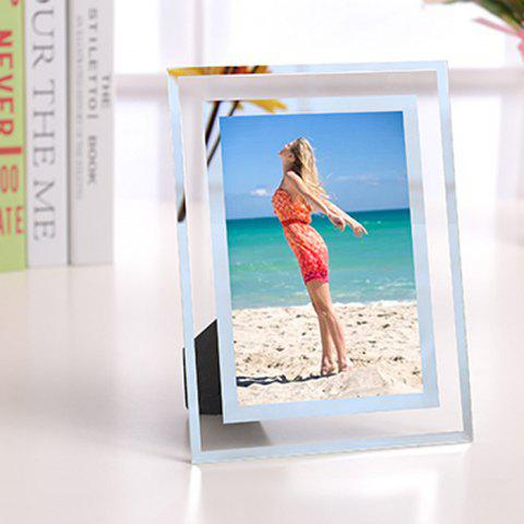 144 Crystal Photo Frame Tabletop Picture Display Stand for Home Decoration - TRANSPARENT