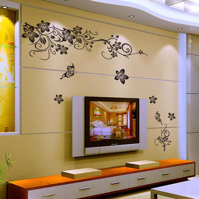 2019 Mcyh 003 Flower Design Tv Background Wall Sticker Removable Pvc