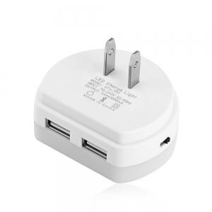 Alfawise HTV - 777 5V 1A Dual USB Ports Adapter Charger with Sensitive Light-sensor Night Light -