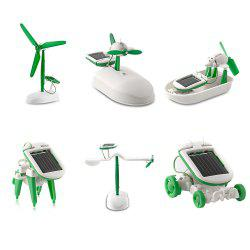 6-in-1 Educational Solar Toy DIY Kit Science Project for Kids -