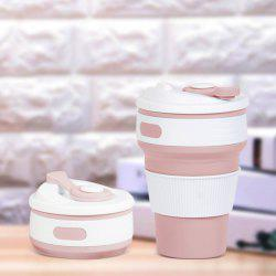 350ML Portable Silicone Collapsible Cup Folding Leak-proof Coffee Tea Mug -