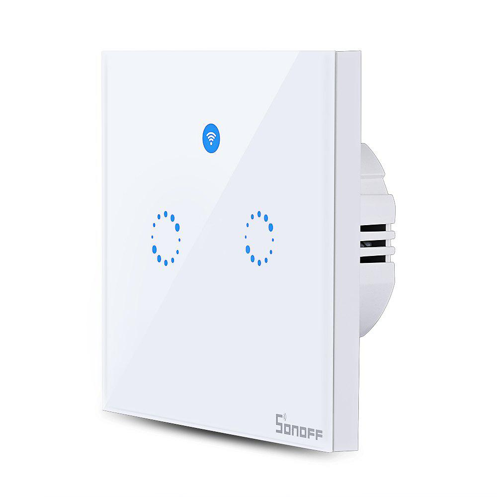 Shop SONOFF T1 Double Gangs WiFi and RF 86 Type Smart Wall Touch Light Switch