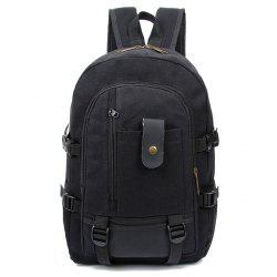 Trendy Outdoor Large Capacity Canvas Backpack for Men -