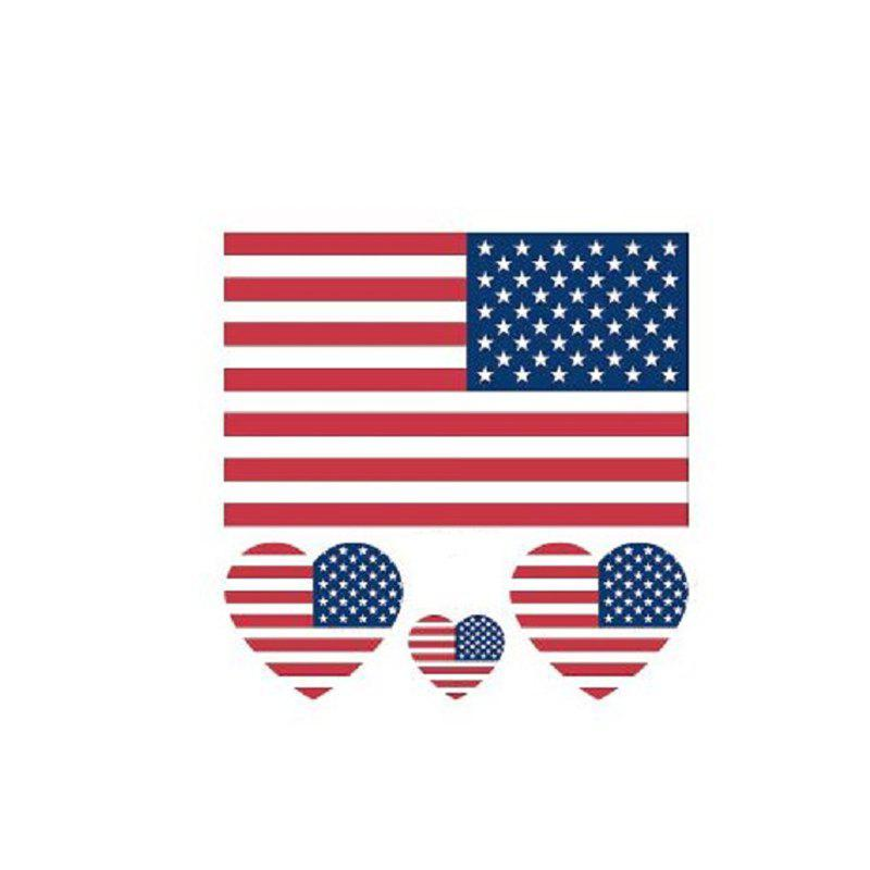 Affordable The American Flag Football World Cup Body Tattoo Stickers