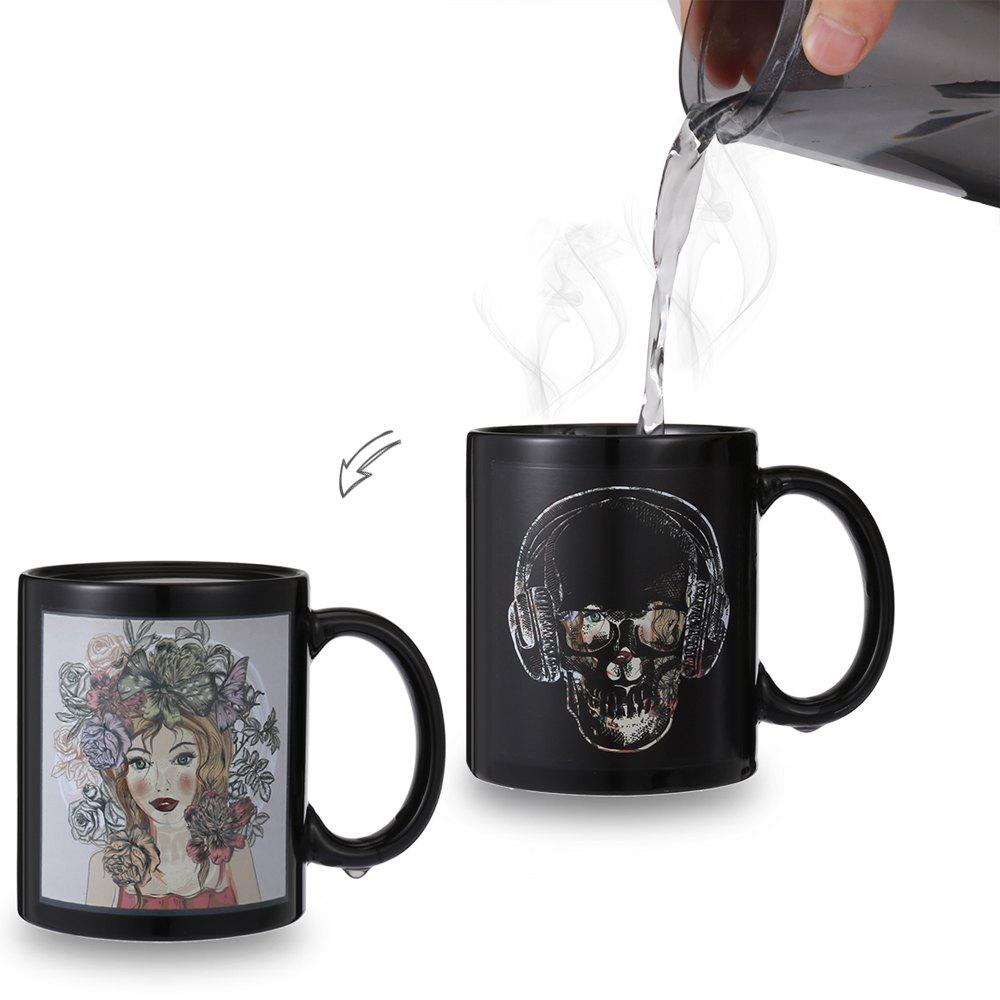 Fashion Skull- Beauty Face Heat Sensitive Mug Picture Changing Thermal Reaction Cup