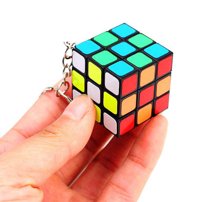Fashion 3 x 3 Magic Cube Keychain Key Ornament Stress Relief Puzzle Finger Toy
