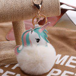 Creative Unicorn Hairball Bag Pendant Keychain -