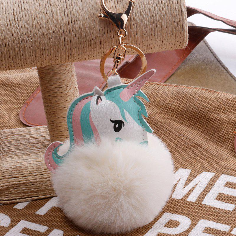 Outfit Creative Unicorn Hairball Bag Pendant Keychain