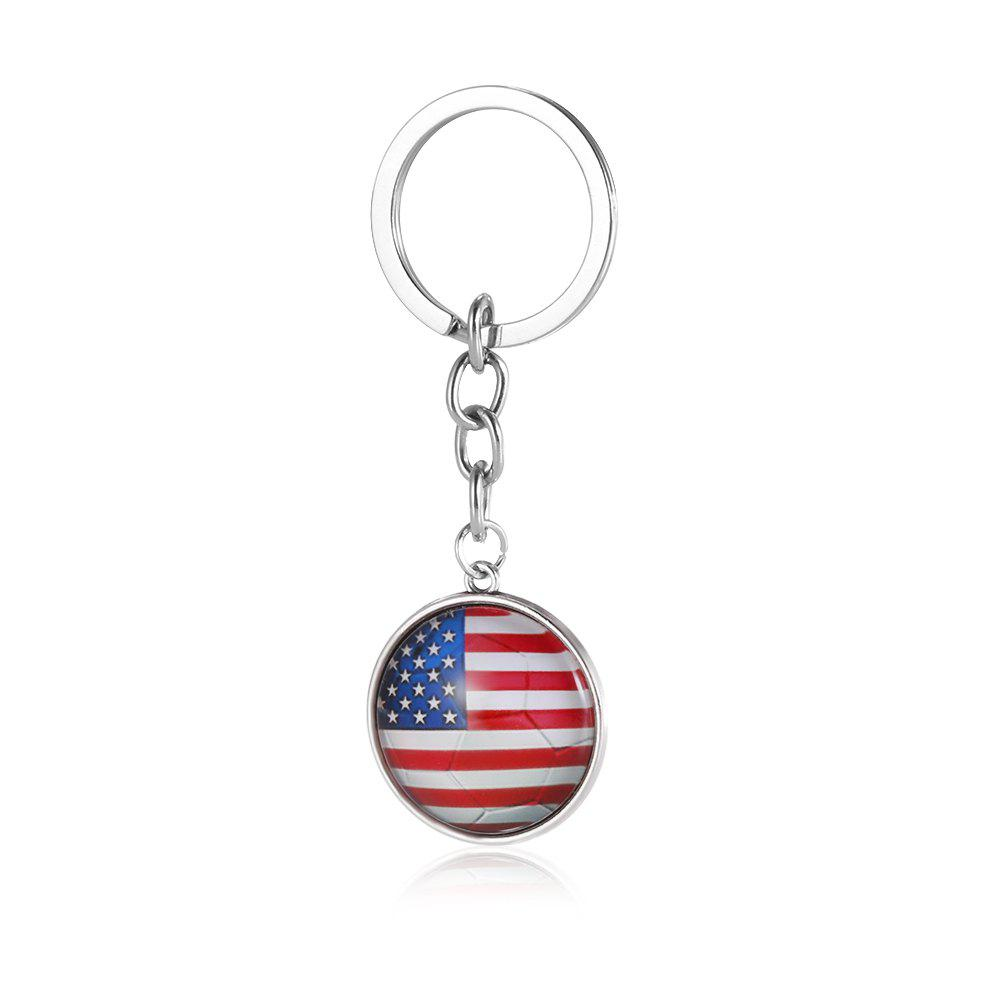 Hot Football National Flag Model Keychain for 2018 FIFA World Cup Patriotic Key Ring Soccer Fans Travel Souvenir Car Accessories