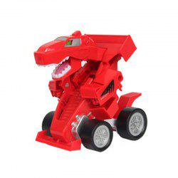 Creative One Button Transformation Robot Beast Car Toy for Kids 1PC -