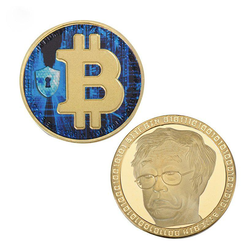 Chic Bitcoin Commemorative Coin Virtual Currency Collection Souvenir Gift Toy 1pc