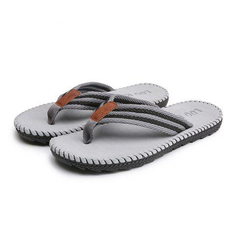 Men Casual Outdoor Beach Breathable Slippers - GRAY - 42