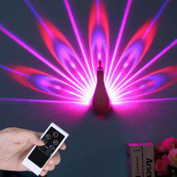 Remote Control Peacock Wall Projection LED Night Lamp -