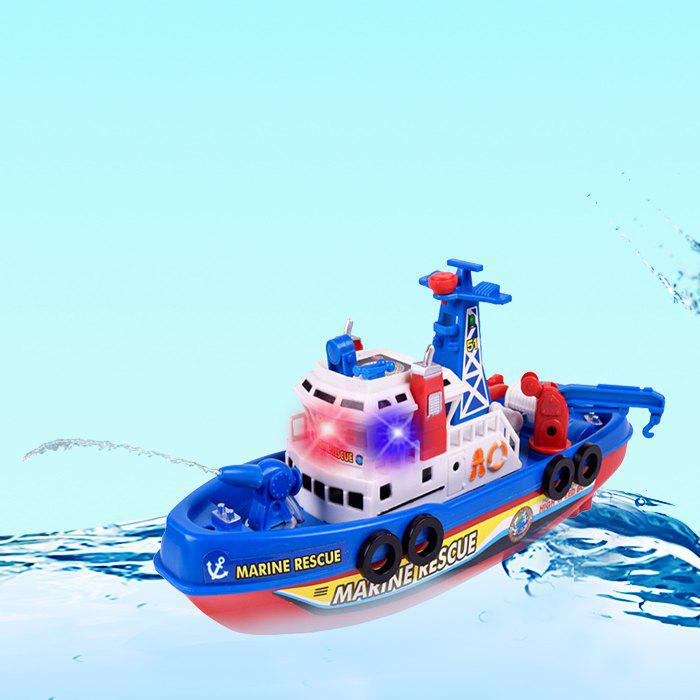 Chic Marine Rescue Electric Music Light Water Spraying Fireboat Toy