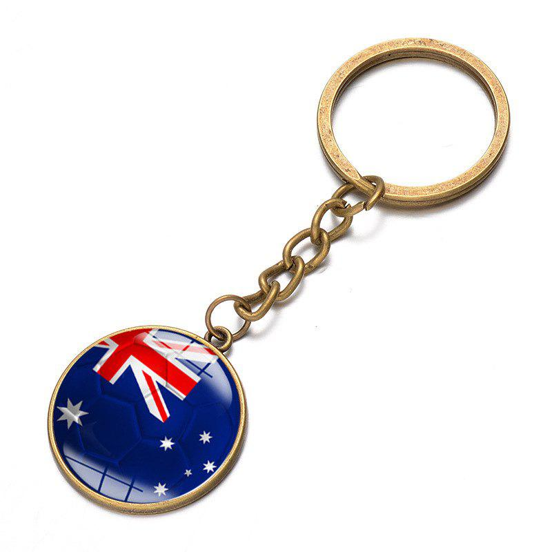 Chic Football National Flag Model Keychain for 2018 FIFA World Cup Patriotic Key Ring Soccer Fans Travel Souvenir Car Accessories