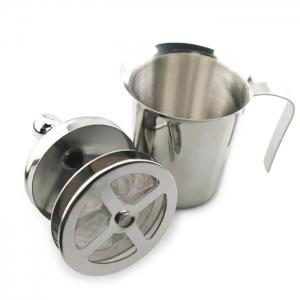 400ml Stainless Steel Double Milk Frother Foamer -