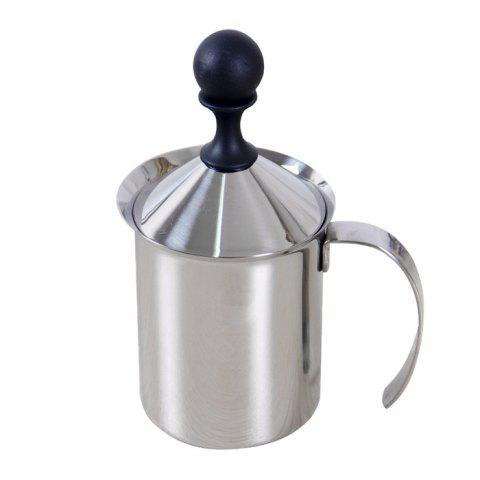 New 400ml Stainless Steel Double Milk Frother Foamer