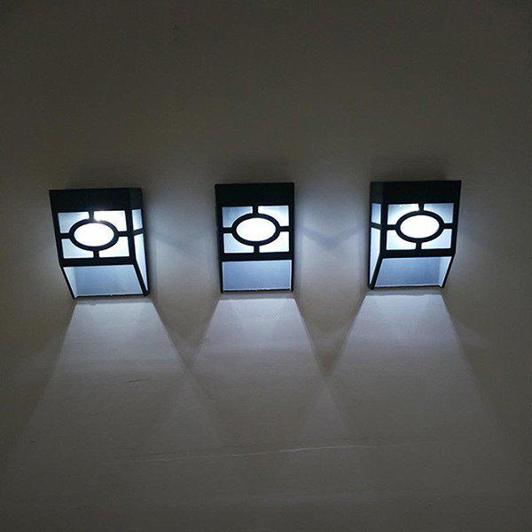 Outfit Outdoor Waterproof Street Lamp Garden Light Solar Wall Light for Fence Stairs 1PC