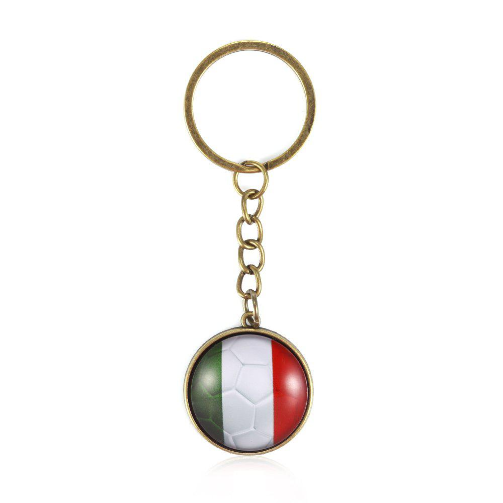 Affordable Football National Flag Model Keychain for 2018 FIFA World Cup Patriotic Key Ring Soccer Fans Travel Souvenir Car Accessories