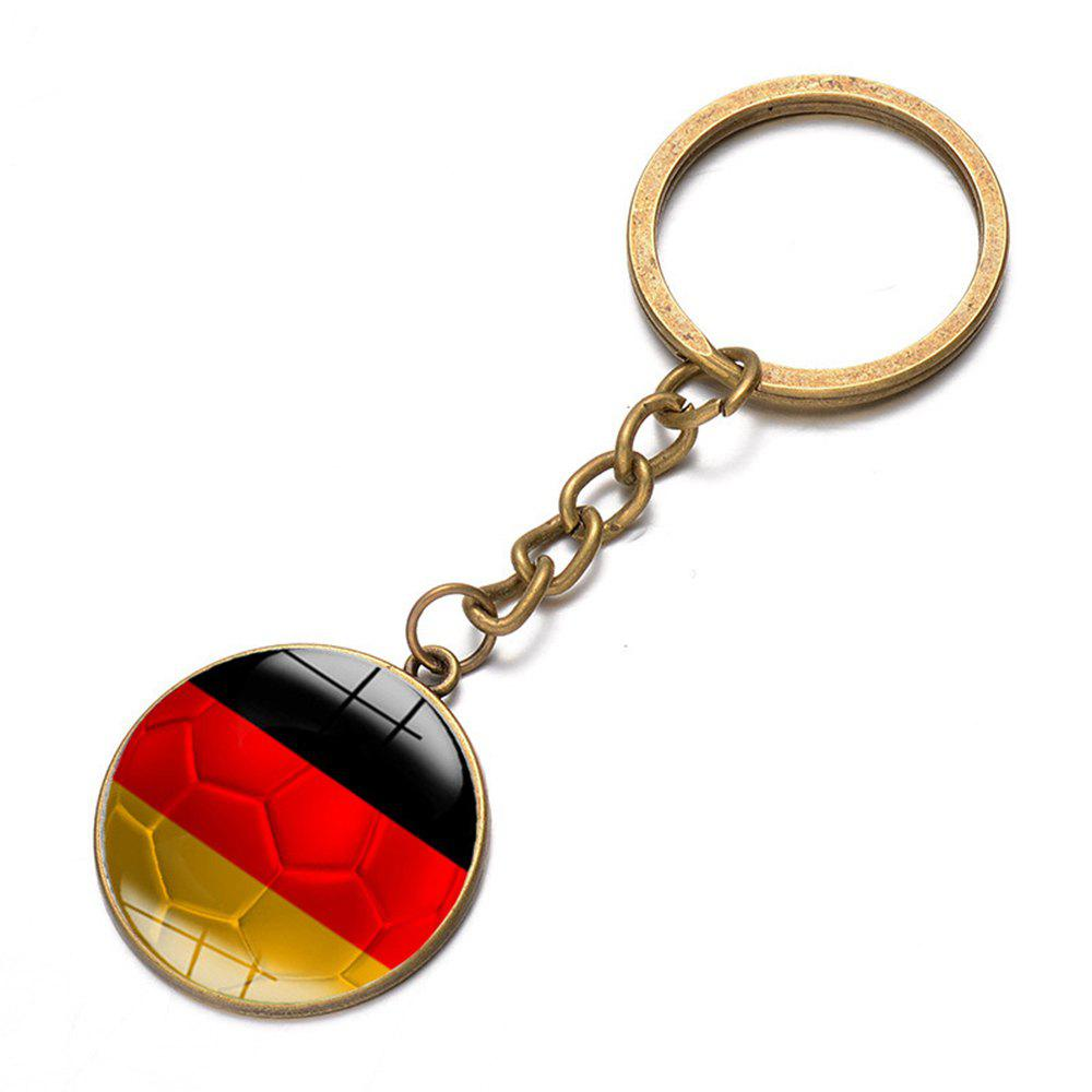 Fancy Football National Flag Model Keychain for 2018 FIFA World Cup Patriotic Key Ring Soccer Fans Travel Souvenir Car Accessories