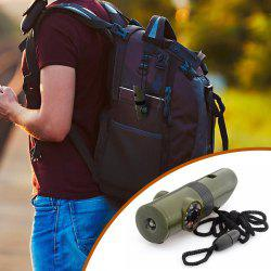 7 in 1 Military Multi-function Outdoor Survival Whistle Compass Hiking Climbing Accessory -