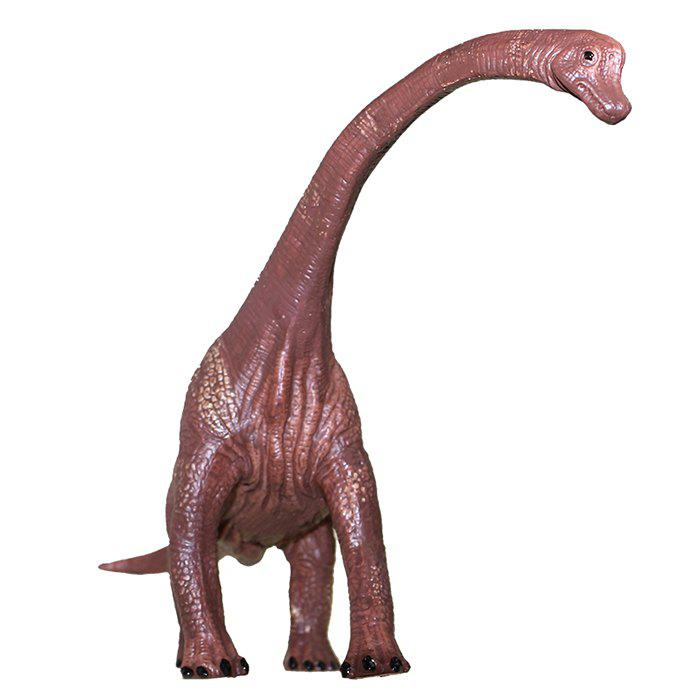 Fashion Dinosaur Model Toy Brachiosaurus PVC Solid Animal Model Desk Ornament 1pc