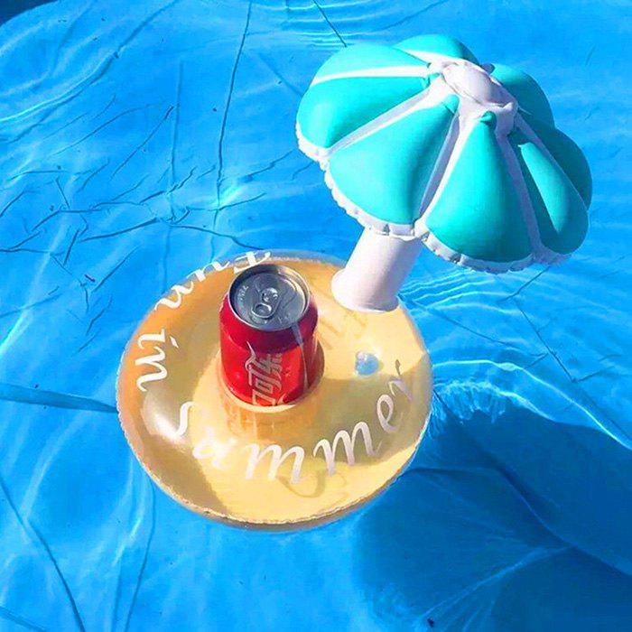 Chic Inflatable Swimming Pool Mushroom Umbrella Drink Holder Floating Cup Base