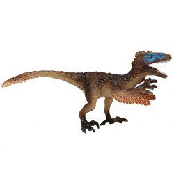 Dinosaur Model Toy Utahraptor PVC Solid Animal Model Desk Ornament 1pc -