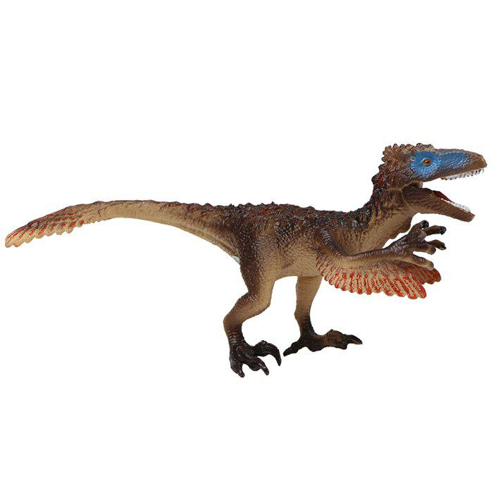 Fashion Dinosaur Model Toy Utahraptor PVC Solid Animal Model Desk Ornament 1pc
