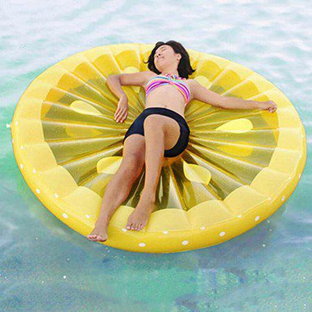 Outfit Portable Inflatable Lemon Floating Row for Summer Party Beach Holiday