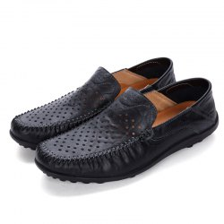 Men Anti-slip Casual Leather Shoes -