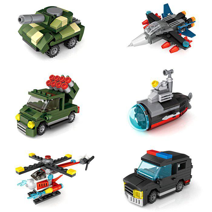 Outfits LOZ 6-in-1 Military and Police Vehicle Model Toy Building Blocks Kids Gift