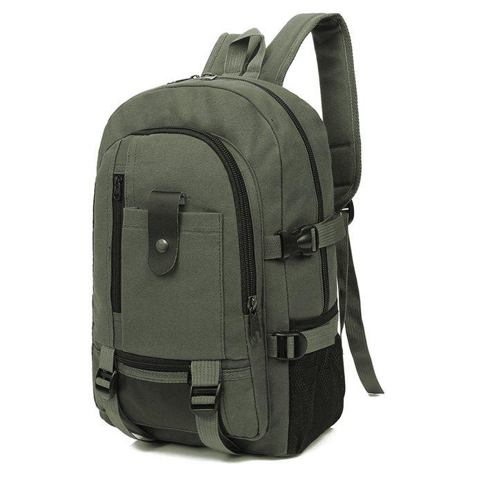 Outfit Trendy Outdoor Large Capacity Canvas Backpack for Men